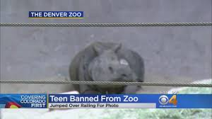 teen banned from zoo for life cbs denver