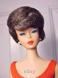 bubble cut hair style vint barbie 1963 chocolate brunette bubblecut ss m nm