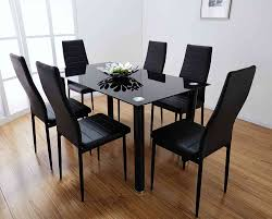 Dining Table Design With Price Chair Monarch Dining Table 6 Chairs Chair Set Black 6 Chairs