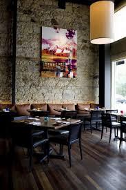 Small Restaurant Interior Design Decorating Ideas Extraordinary Grey Natural Stone Wall For Small