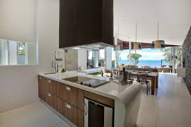 Cozy Modern Open Kitchen Design Beach Villas In Thailand Penaime