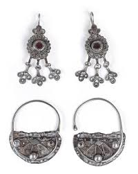 styles of earrings tribal mixed lot 4 items tunisia central asia two