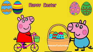 peppa pig easter egg animated coloring page fun coloring activity