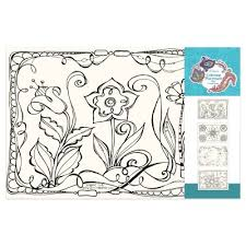 coloring placemats coloring placemats beautiful blooms activity