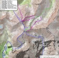 Colorado Fourteeners Map by 14ers Com U2022 Grays Peak And Torreys Peak Routes