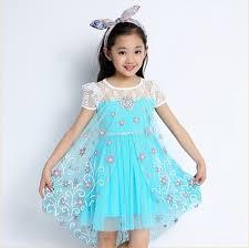 wholesale child clothes gambar frozen elsa dress for kids