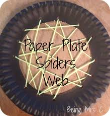 halloween crafts paper plate spider u0027s web being mrs c