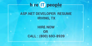 Asp Net Developer Resume Asp Net Developer Resume Irving Tx Hire It People We Get It Done