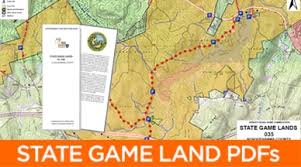 pennsylvania state map state lands