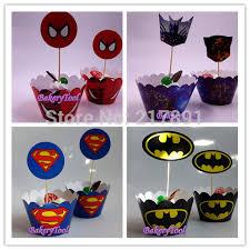 Children U0027s Birthday Party Gift Super Man Cupcake Wrapper Batman