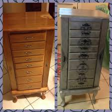 jewelry armoire antique white with chestnut top home decorators
