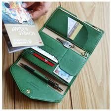 leather women s wallet pattern leather women travel passport holder multifunctional certificate id