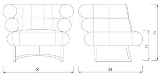 Armchair Dimensions Classicon Bibendum Armchair I Dopo Domani