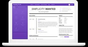 Simple Resume Builder Resume Builder U2022 Simplicity Wanted