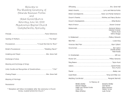 wedding program templates program template 9