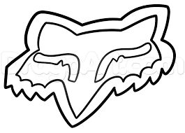 how to draw fox head logo fox racing step by step sports pop
