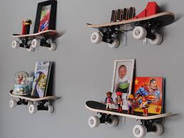 Wall Bookshelves For Kids Room by Kids Room 4 Skateboard Shelving Wall Mounted Attractive