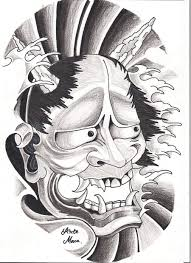 outline hannya mask tattoo design photo 4 real photo pictures