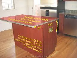 kitchen island outlets kitchen island receptacle height ppi