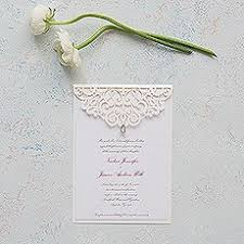 embossed wedding invitations laser cut embossed wedding invitations the knot shop