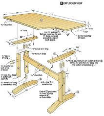 wood table plan project plans for wood tables and desks