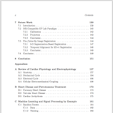 cover letter essay table of contents example cornell table of