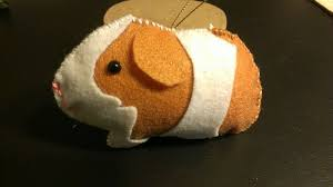 felt guinea pig ornament other side by sanzosgal on