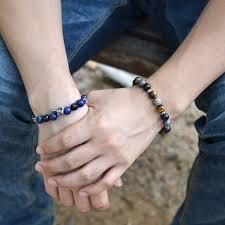 fossil bracelet men images Silver ball gemstones beaded bracelets callvogue jpg