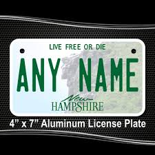 New Hampshire Vanity Plate New Hampshire Replica State License Plate For Bikes Bicycles