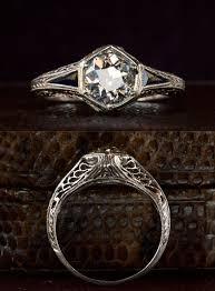 art deco filigree engagement rings trulagreen com