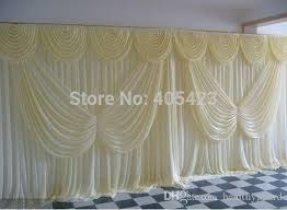 Curtains Wedding Decoration 3 6m 10ft 20ft Ice Silk White Wedding Curtains Backdrops With
