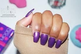 tashika bailey matte purple coffin nails