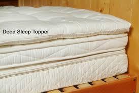 quilted wool mattress topper sleeping organic