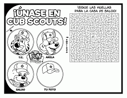 free cub scout coloring pages coloring home