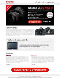 landing page design example for online digital product and services