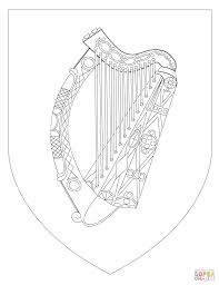 coat of arms of ireland coloring page free printable coloring pages