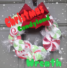 diy christmas candyland wreath youtube