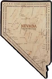 Nevada Map Neveda State Shape Map Cribbage Board