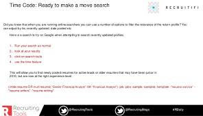 Find Resumes Posted Online by 11 Power Boolean Searches And 7 Sourcing Tools Webinar