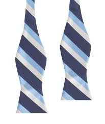 white and blue bows white navy and light blue striped bow tie self tie ties