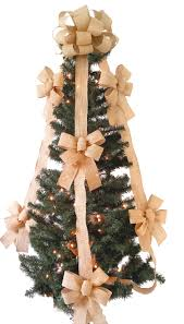 christmas tree bow topper burlap tree topper bow set chic design