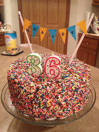 sprinkle fiesta cake i made for my husband u0027s birthday for the