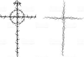 christian cross religion barbed wire and stock vector