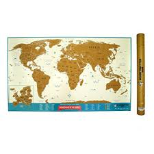 World Scratch Map by Snagshout Scratch Off World Map Travel Tracker