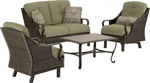 ventura 4 piece wicker outdoor conversation set