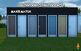 Stall Door My Sims 4 Blog Bathroom Stall Doors Without Decals By Opbsim4designs