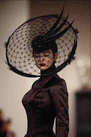 lace headwear 725039 philip treacy black feathers and lace hat a4 photo print
