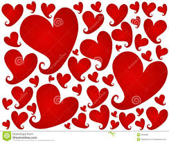red valentine u0027s day hearts background pattern royalty free stock