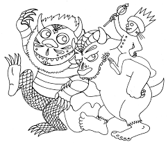 where the wild things are book coloring pages where the throughout