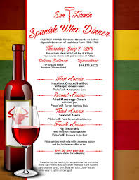 san fermin spanish wine dinner new orleans events calendar